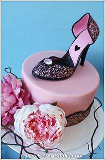 Leopard High Heel Cake Rhinestones