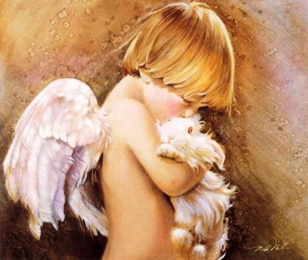 child angels 2 Children are angels on the sensual paintings Nancy Noel