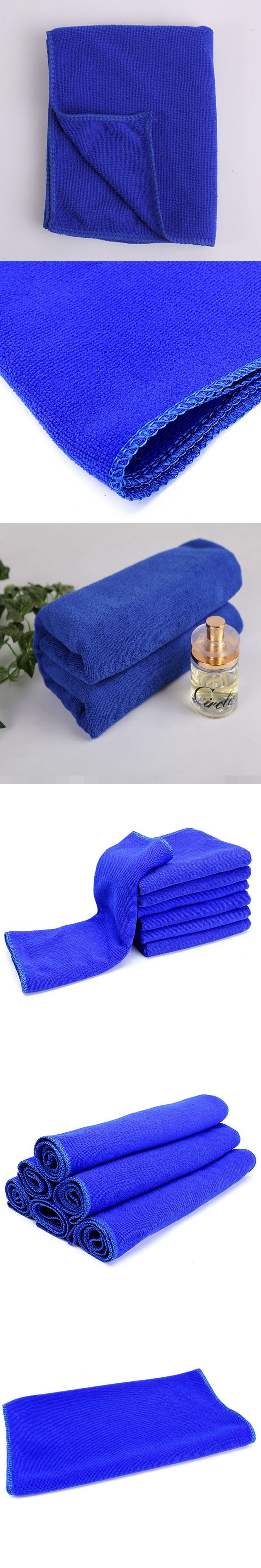 40*40 CM Microfiber Cleaning Cloth Blue Color Kitchen Absorbent Cleaning Towels Soft Eco-Friendly Car Auto Wash Cloth