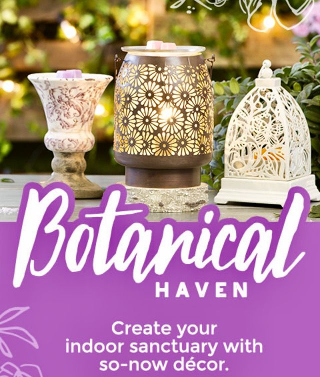 Scentsy Spring Summer 2017 home decor, wax warmers, home fragrance. |  Botanical Haven collection |  chic decor, rustic decor, vintage decor ... styles for any home!  . . .    https://tressalynne.scentsy.us/