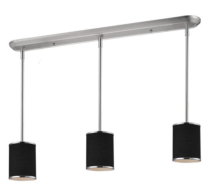 Cameo 3 Shade Modern Pool Table Light