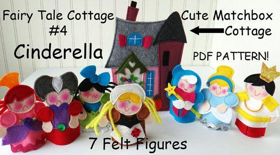 FAIRY TALE MATCHBOX Cottage 4 Cinderella Pdf Pattern