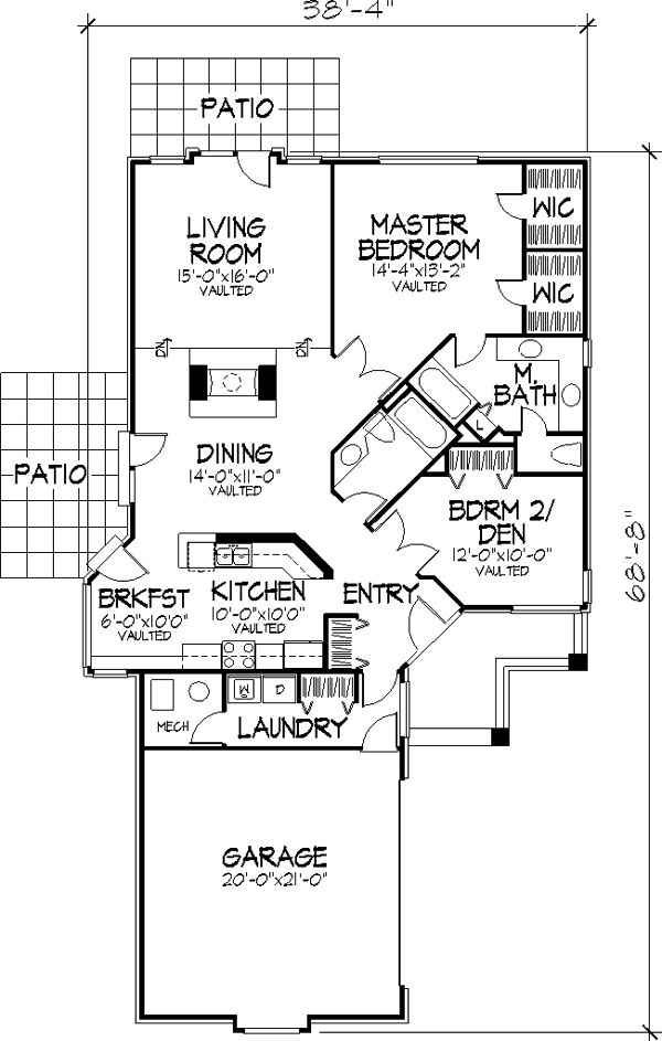Main Floor Plan image of The Alston House Plan