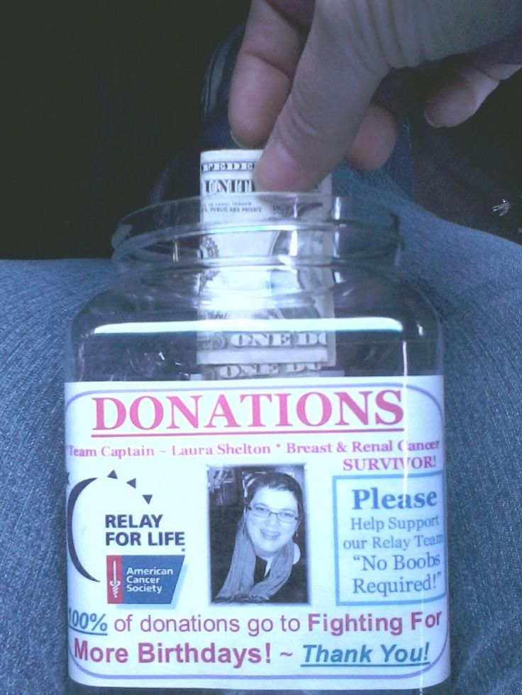 donation jars relay for life - Google Search