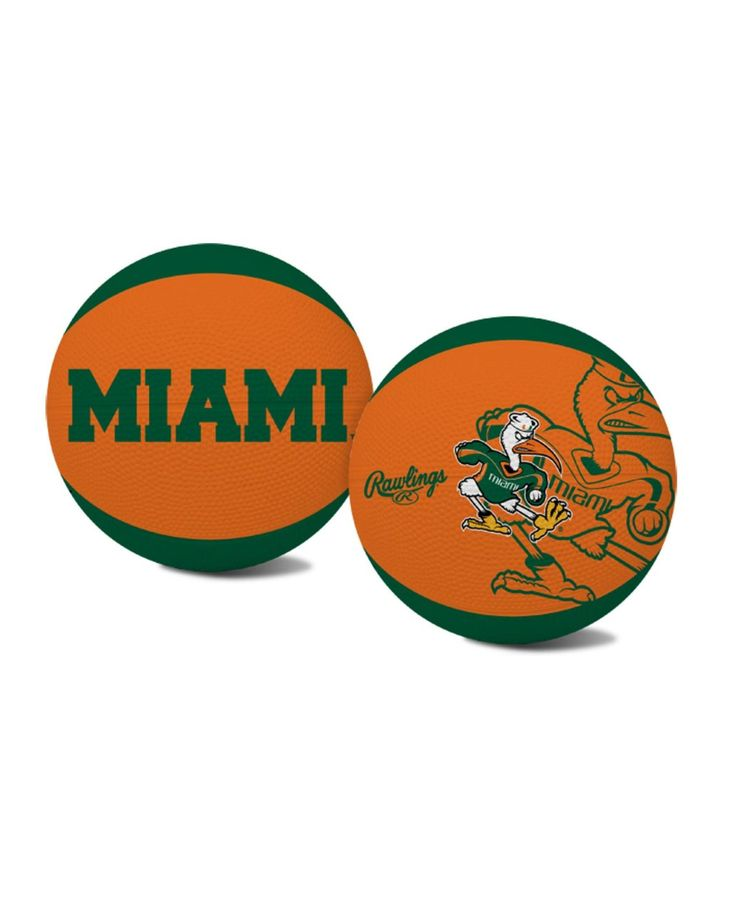 Jarden Sports Kids' Miami Hurricanes Alley-Oop Basketball
