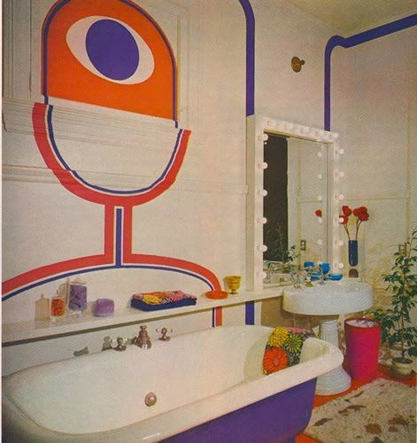 Home Decorating Ideas Under    C B Retro Bathroomsorange