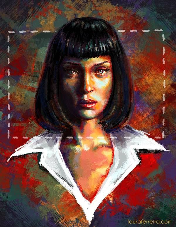 Don't be such a square! Mia Wallace by Laura Ferreira