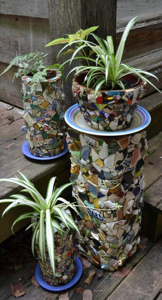 80 best Mosaic Pots images on Pinterest Mosaic flower pots