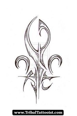 tribal fleur de lis tattoo designs 299 450 artpiece pinterest tattoo designs. Black Bedroom Furniture Sets. Home Design Ideas