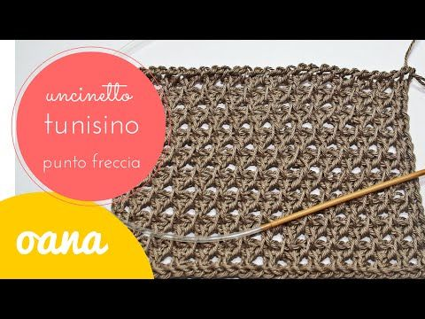"Punto noccioline uncinetto tunisino ""infinito"" Tutorial uncinetto - YouTube"
