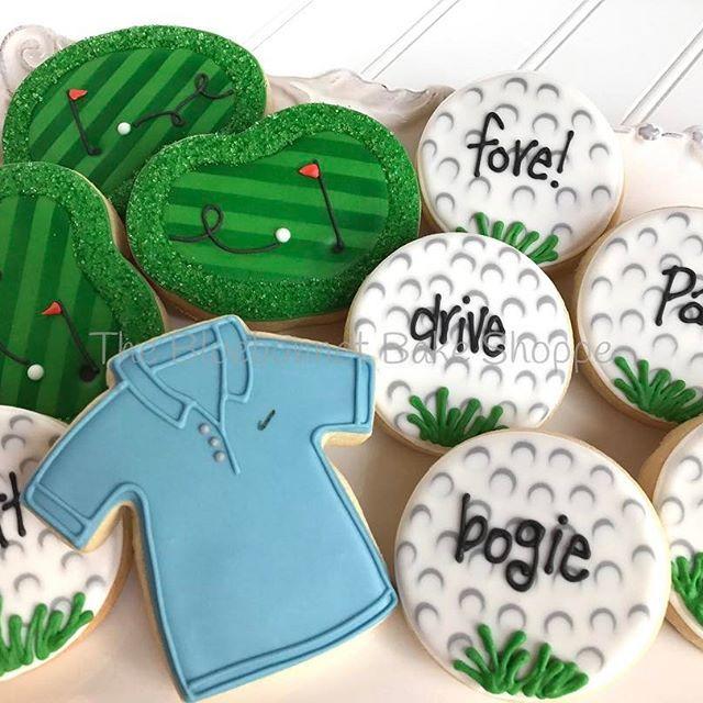 golf cookies @thebluebonnetbakeshoppe