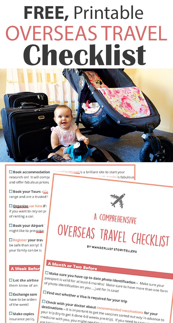 The ultimate overseas pre-travel checklist for International travel - from finalizing your itinerary, to confirming visa requirements, to checking your immunization, to purchasing travel insurance & more! Ease the International travel anxiety by being organised!