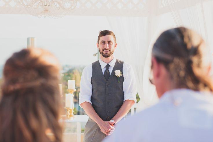 Groom's Reaction, First Look, Riviera Maya Destination Wedding: Callen + Cheyenne — Kelly Costello Photography, Texas Wedding Photographer