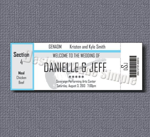 8 best Escort Cards images on Pinterest Wedding stuff, Concert - concert ticket templates