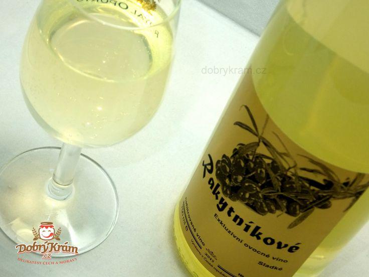 rakytníkové vínko je vyloženě sladká záležitost