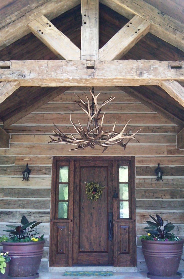 Ajsimpsonpainting silver gilded and burnished Log cabin chandelier
