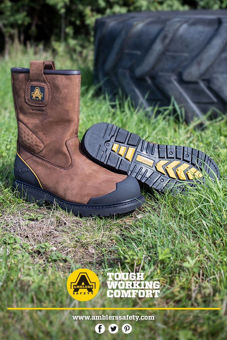 FS223. Brown Leather Goodyear Welt Rigger Boot. Reinforced toe and heel support. Waterproof.