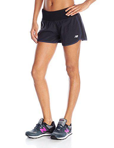 eb3e50d032e42 New Balance Womens Impact 3 Shorts Black Large * Click image for ...