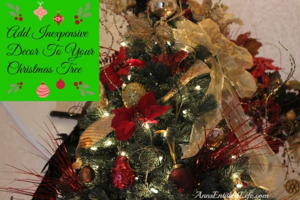 Cheap Christmas Tree Decorations (that still look good!) http://www.annsentitledlife.com/holidays/cheap-christmas-tree-decorations/