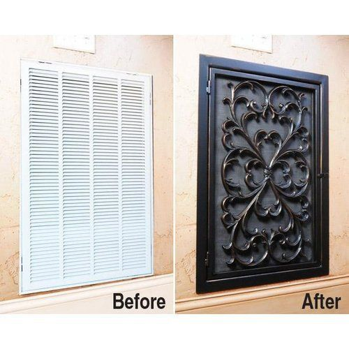 ideas to hide air conditioner return vents - Google Search                                                                                                                                                      More