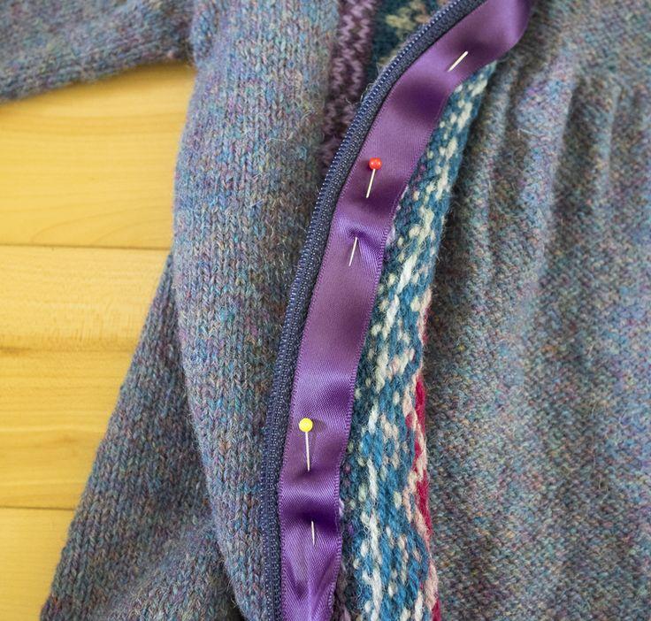 Knitting Zipper Tutorial : Best images about knitting zippers buttons buttonholes
