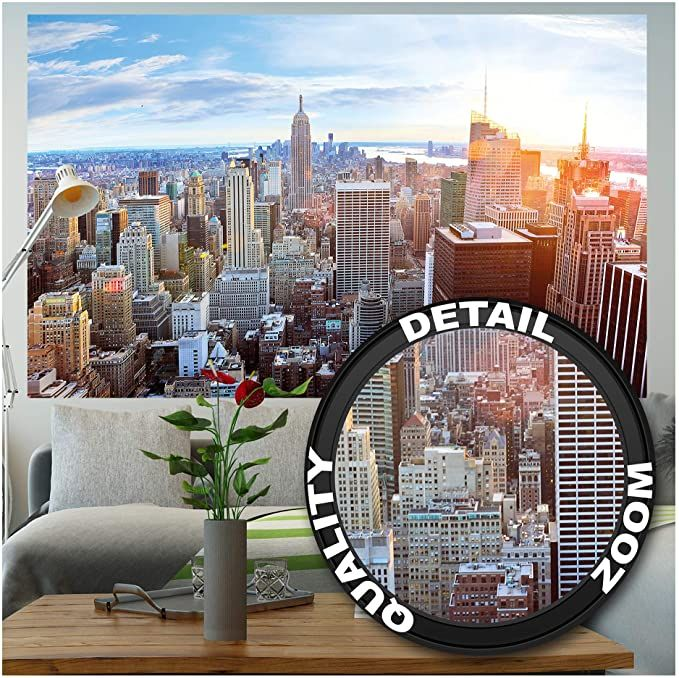 Amazon Com Great Art Poster New York City Skyline Picture Decoration Sunset Penthouse View Manhattan America Du Skyline Picture Photo Decor Penthouse View
