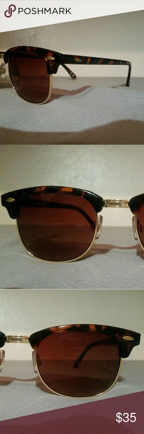 Gold dipped tortoise shell foster grant sunglasses New, never used. Zero scratches. Foster Grant Accessories Glasses