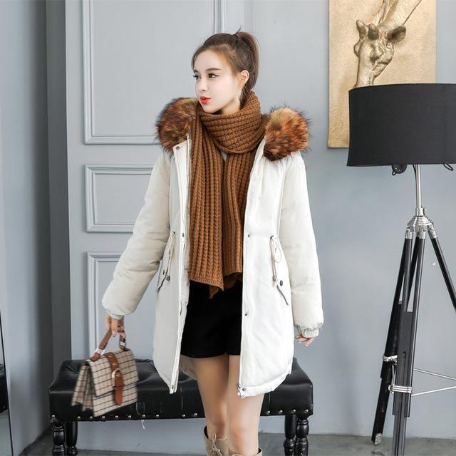 Faux Fur Parkas Women Down Jacket Winter New 2018 Winter Jacket Women Thick Snow Wear Coat Female Jackets Parkas plus size 2 sty 2