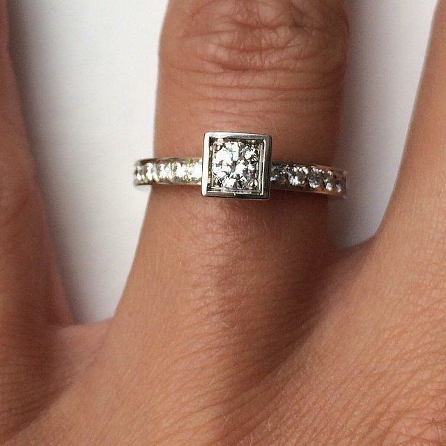 Small Engagement Ring Inspiration | POPSUGAR Love & Sex