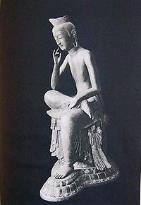 금동미륵보살반가사유상 (국보 제83호) - 위키백과, 우리 모두의 백과사전