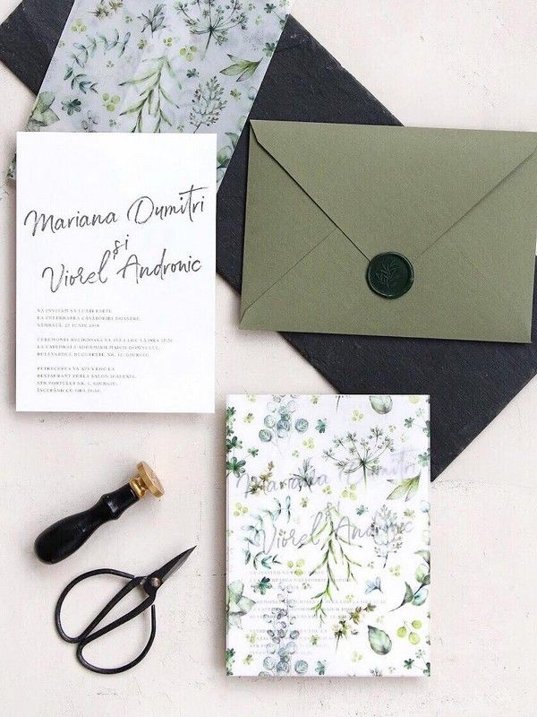 30 Silver Sage Green Wedding Color Ideas For 2020 My Deer Flowers Part 4 Wedding Invitation Kits Handmade Wedding Invitations Wedding Invitation Cards