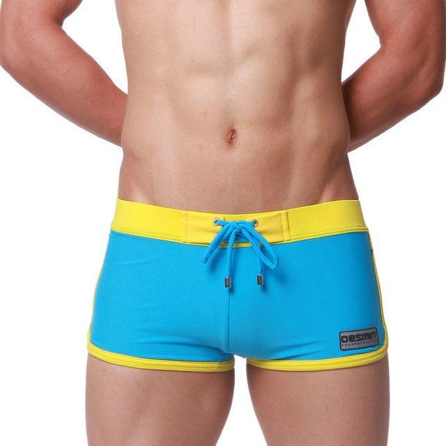New DESMIIT Swimwear Men Swimming Trunks 2016 Hot Swimsuits Boxer Briefs Sunga Swim Suits Beach Surf Shorts zwembroek man Board