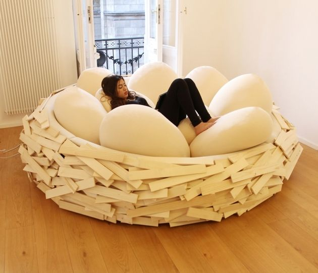Bird's nest instead of bean bags!!! I wonder if Noah would sleep in this instead of my bed?