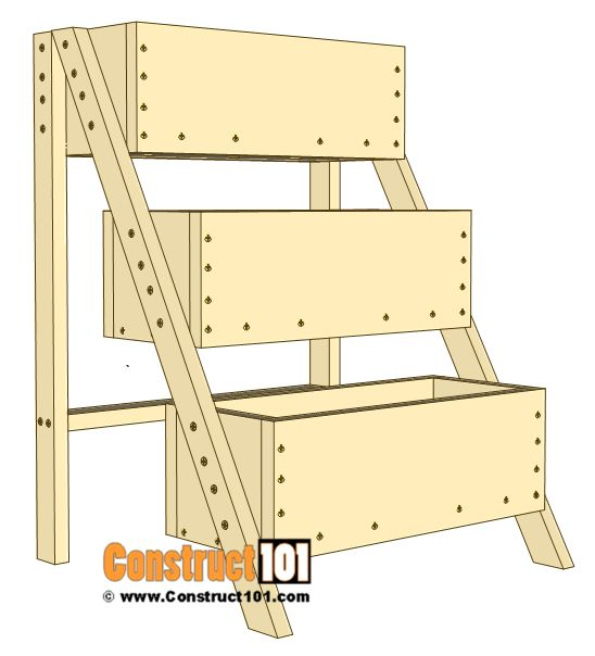 3 Tier Planter Plans Free Pdf Download Wood Projects 640 x 480