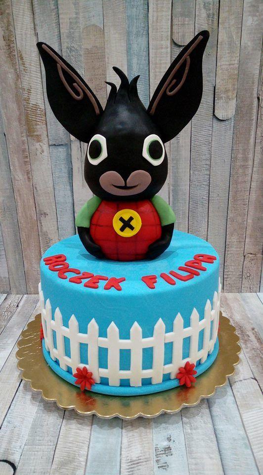 Tort z Królikiem Bingiem - Bunny Bing
