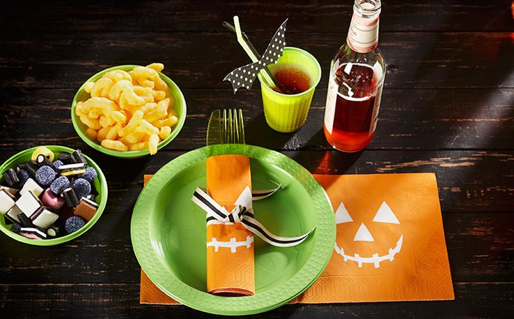 Halloween napkins - Smirk pumpkin face Goodfoodmood for halloween