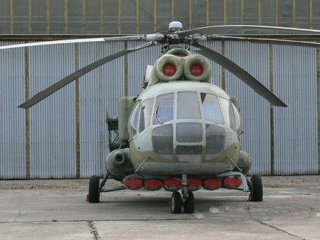Mi-8PPA Slovak AF  verze pro vedení radioelektronického boje.