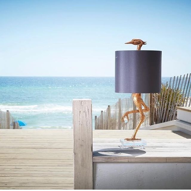 Happy Friday! The weekend is here and it's time to celebrate! Why not kick the party off with a great conversation piece like this gold Ibis Lamp by Cyan Design? It's available through our website interiorclue.com Item Code: 05206