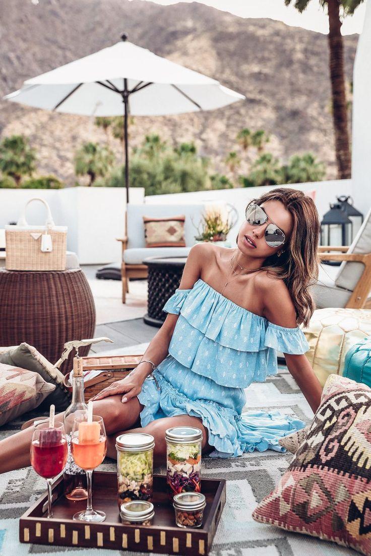 Rooftop picnic in Palm Springs at La Serena Villas