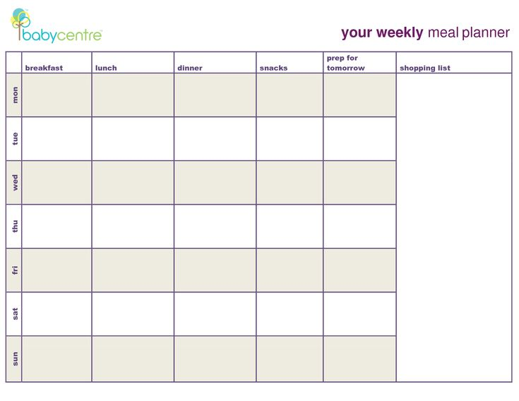 meal plan template - Google Search | Coach | Pinterest ...