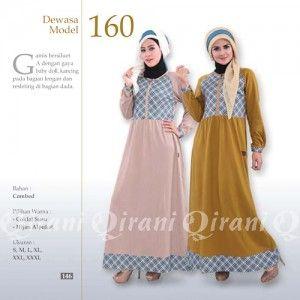 Baju Gamis Qirani Modis Model 160 Terbaru http://distromuslimah.net/baju-gamis-qirani-modis-model-160-terbaru/