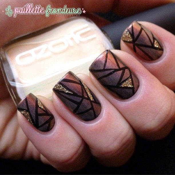 brown nail art ideas