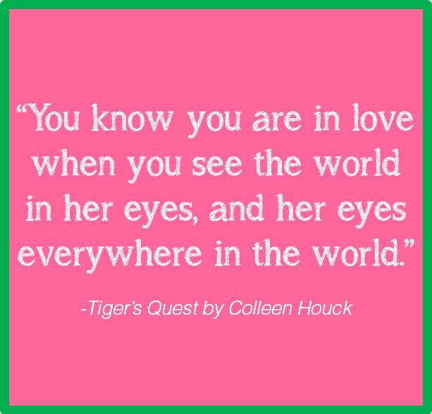 awww tigers curse....Most favorite book in the whole world!!!!