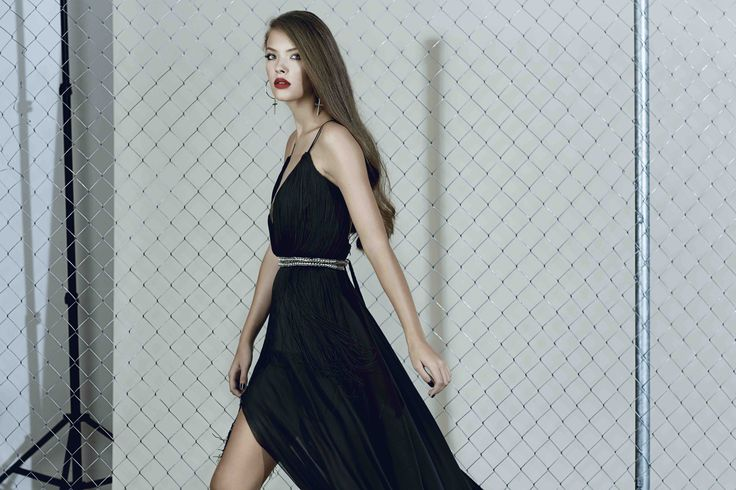 Silk gown with fringes from our Fall/Winter 2015 collection: http://manuri.ro/product/manuri-edgy-scarlett-gown/
