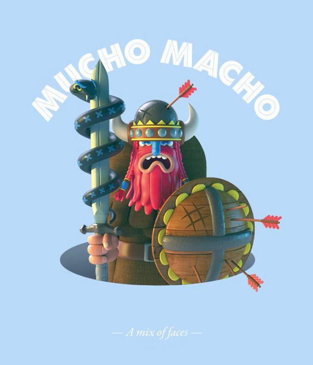 Mucho Macho Character Design-9