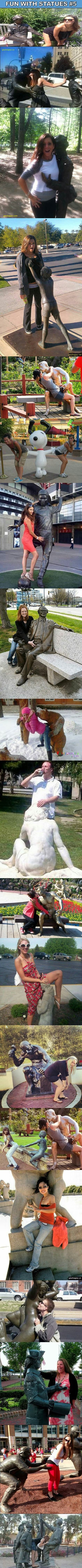 Top 20 Funniest Pictures Of People Having Fun With Statues