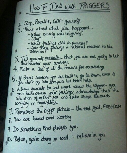 How to deal with triggers - very useful, especially for anxiety, stress and panic #AnxietyDepersonalizationInfo