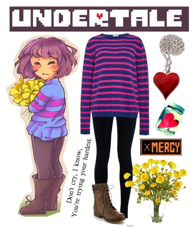 """""""Undertale - Frisk"""" by missolivetree ❤ liked on Polyvore featuring NIKE, Refresh, Stella Jean and Nearly Natural"""