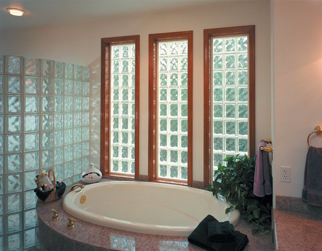 glass block windown design im doing in nthis bathroom will be doing three windows that will be wide by tall sitting bench will be place in front on same