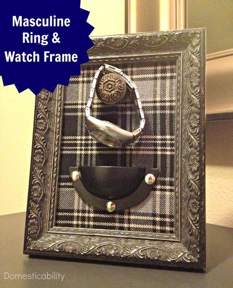 DIY masculine ring and watch holder